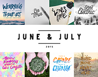Daily Lettering | June & July