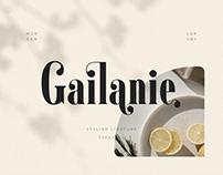 FREE | Gailanie Stylish Ligature Font