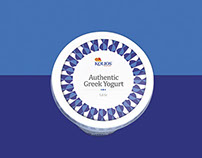 Authentic Greek Yoghurt. Packaging design