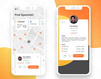 Find Specialist Around You - IOS App UI