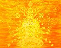 Sunset Meditation Painting
