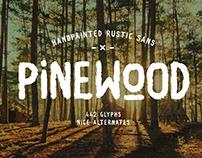 Pinewood - Handpainted Rustic Sans