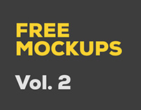 Free Photoshop Mockups: Vol. 2