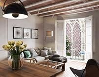 3D Interior Renderings For A Kitchen Studio Design