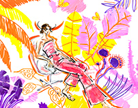 Maximalist fashion illustration
