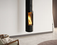 Free 3d model / Slimfocus Suspended Fireplace by Focus