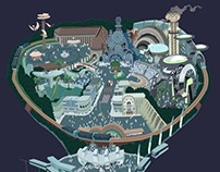 Retro Theme Park Map