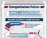 Campaña Donación de libros, útiles y material escolar