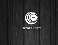 SECURE  CHATS Logo design