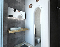 Ανακαίνιση μπάνιου στη Σαντορίνη