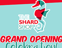 The Shard Shop Event Sign