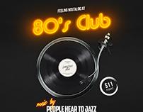 80s Club Social Media Template
