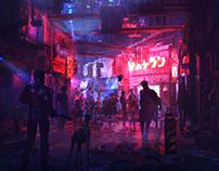 cyberpunk street concept