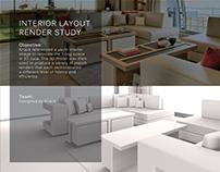 Interior Layout Render Study