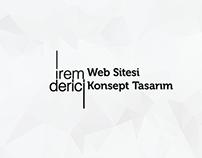 İrem Derici Web Sitesi / UI/UX Design