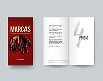 Capa, projeto gráfico e diagramação - Livro Marcas