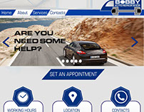 BOBBY Auto Repair Shop Web Design Mock Up