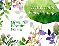 Watercolor Forest Clip Art