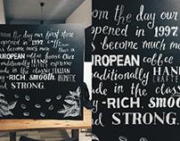 Chalkboard for Caffè Nero