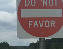 DO NOT FAVOR sign