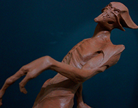 Monster Sculpture in Plasticine