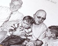 'At Peace' - Pencil Sketch