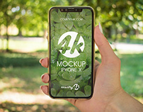 2 Free iPhone X PSD MockUps in 4k