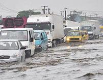 Torrential rains often bring the danger of flooding