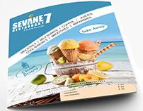 Sevane 7 Restaurant Menu Card