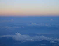 Mountains and clouds from above (Montenegro).