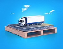 road on the pallet
