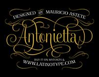 Antonietta | Font Specimen & Silkscreen