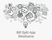 Bill Split - Wireframe