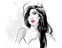 A quick sketch - Amy Winehouse. Personal project