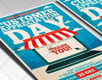 Customer Appreciation Day - Business Flyer PSD Template