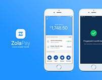 ZolaPay - Mobile Payment Gateway | Mobile App UI