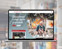 Landing Page Mockup - Art Class Learning Platform