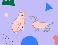 Pattern Doggy Illustration