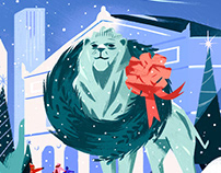 Art Institute of Chicago Holiday Illustration