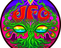 Camp UFO Sticker