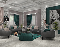 Modern Living & Dining Room