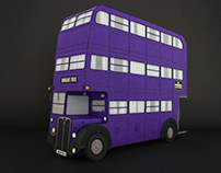 The Knight Bus: Paper Sculpture
