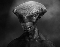 3D grey scale character