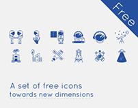 free space icon set