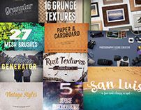 The Design Panoply Bundle: 1199 Fonts & Design Elements