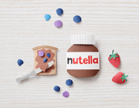Nutella Paper art