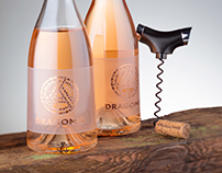 Dragomir Rose Wine Label Design by the Labelmaker