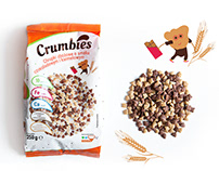 Crumbies - breakfast cereals - packaging