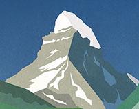 Matterhorn minimal poster