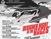 Poster illustration for Designers Night at the Races